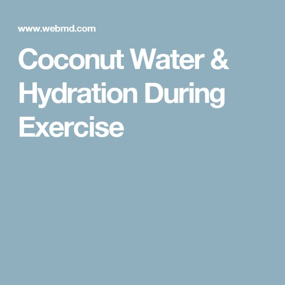 Coconut Water & Hydration During Exercise