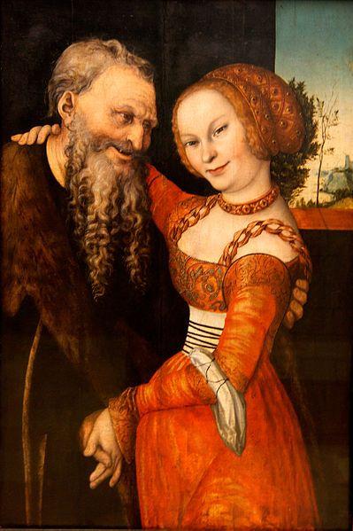 Lucas Cranach der Ältere: Das ungleiche Paar, um 1530:
