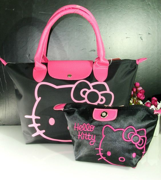 NEW HELLOKITTY BAG PURSE WITH MAKE UP BAG GO-2244a1