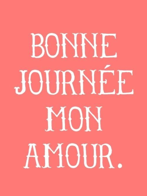 Bonne Journee Mon Amour
