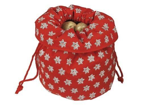 Nouvel Kartoffelsack Edelweiss rot   Nouvel Kartoffelsack Edelweiss rot, Grösse 27cm x 27cm x 18cm    #Nouvel #308090 #Raclette