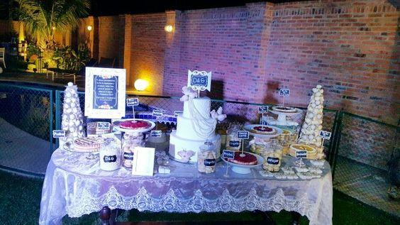 Mesa de torta y dulces! boda #denygus