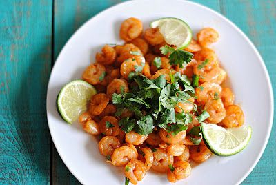 Spicy Shrimp with Cilantro and Lime! #nomnomnom