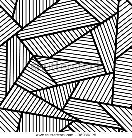 Abstract black and white seamless pattern. by bekulnis, via Shutterstock