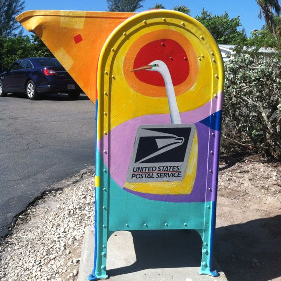 Unique mailbox on captiva island hard working rural for Unique mailboxes with post