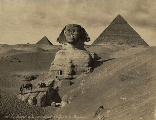 Pyramids and Sphinx -1880: