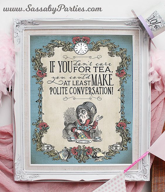 Mad Hatter Tea Party Poster INSTANT DOWNLOAD by SassabyParties