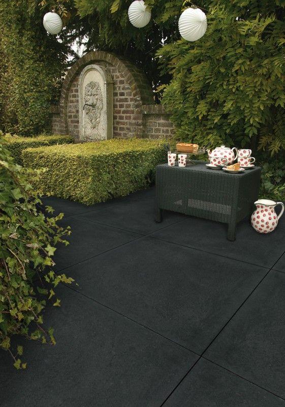 Zwarte Tuin Tegels.Afbeeldingsresultaat Voor Tuintegels Zwart Tuin