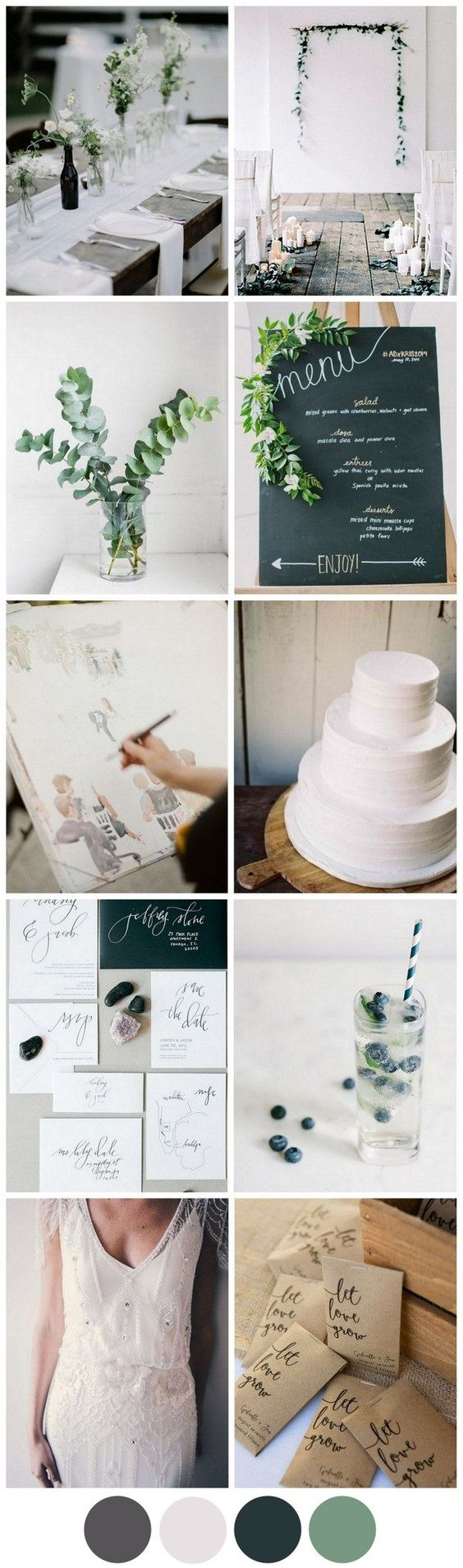 A modern minimal wedding is an exercise in inspiration restraint but if you practice it in the planning, it's sure to pay off amazingly on the day!