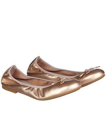 Ballerinas von Unisa  #shoes #gold #fashion #dresscode