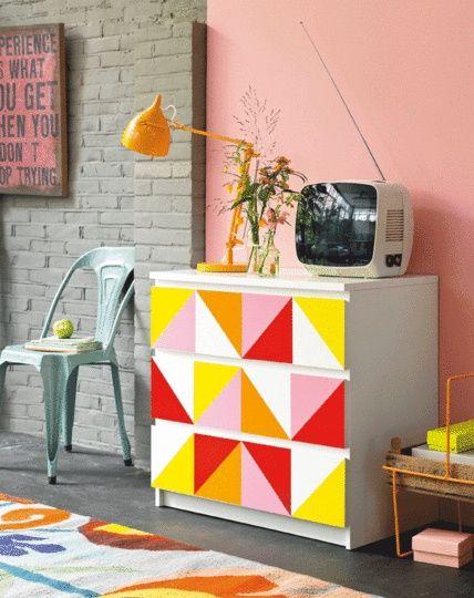DIY IKEA malm colorful upgrade