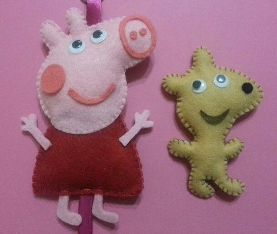 Peppa pig e teddy in feltro www.facebook.com/magliaetricot