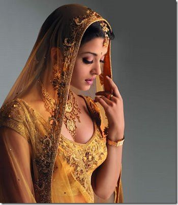 Aishwarya Rai in a Beautiful Bridal Outfit with Zardozi Embroidery