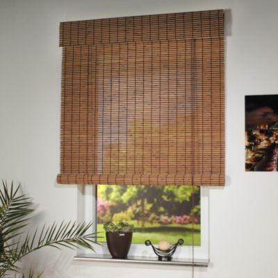 Liedeco Rollo Holz mit Seitenzug, Holzrollo für Fenster und Tür.