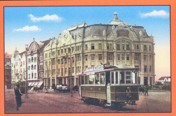 Timisoara - Actuala Piata Victoriei sau Piata Operei . Palatul Loyd - 1914