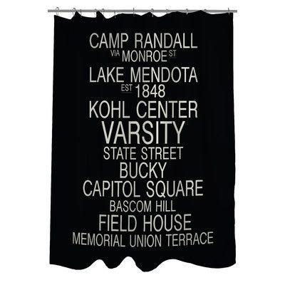 Curtains Ideas curtains madison wi : One Bella Casa Madison Wisconsin Landmarks Shower Curtain ...