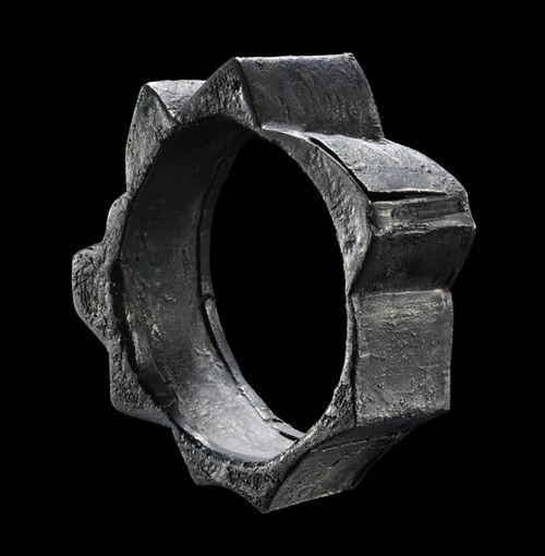 Gigi Mariani  Bracelet: Remnant 2011  Silver, niello, patina