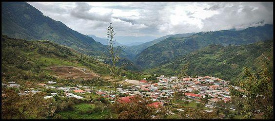 Panorámica del valle de San José de Bolívar  San José de Bolívar, Municipio Francisco de Miranda, Estado Táchira, Venezuela