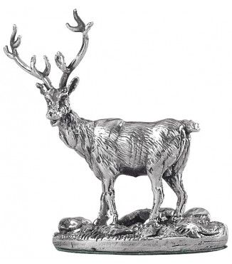 sterling silver miniature stag ornament. For the man in your life.