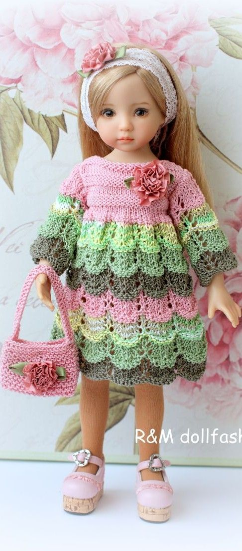 Little Darling Effner- knitted outfit in pastels: