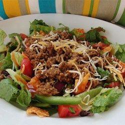 Taco Salat mit Hackfleisch