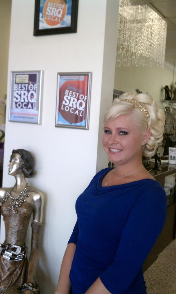 Wedding, or Prom up-do, done at Jflo Salon in Sarasota! So Beautiful!