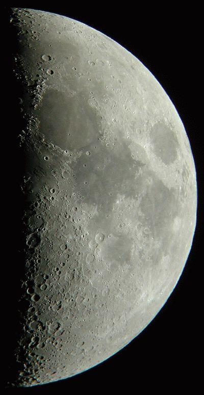 半月の月面