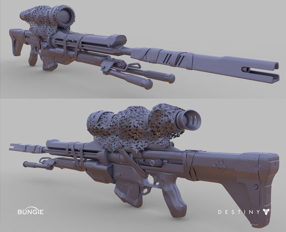 ArtStation - Destiny: Exotic Sniper Rifle Patience and Time, David Stammel