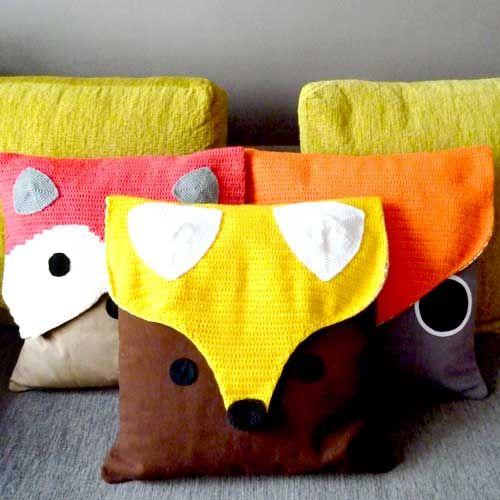 fox crochet crochet cushion and more crochet cushions fantastic fox ...
