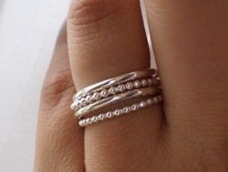 simple stacking silver rings