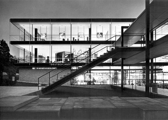 Egon Eierman - German pavilion At Brussels World Expo 1958.
