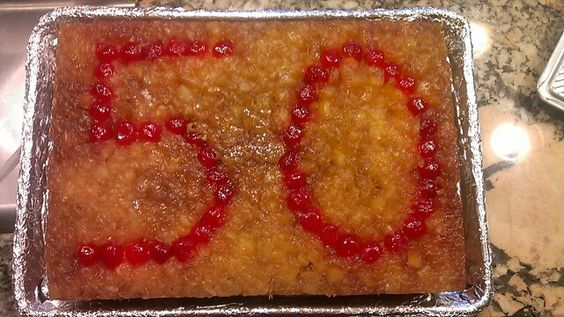 Pineapple upside down birthday cake: