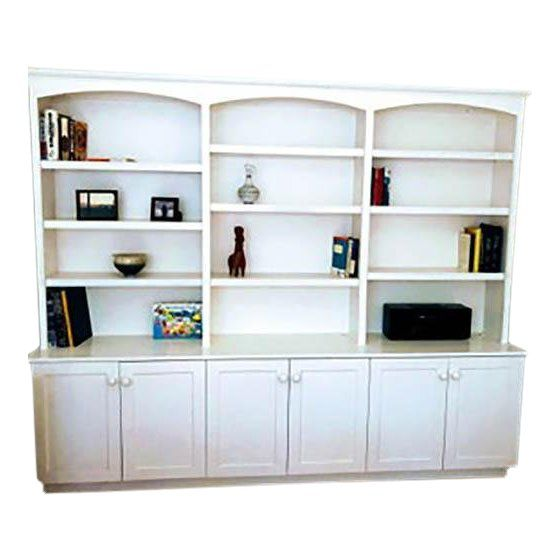 Painted Wall Unit Bookcase
