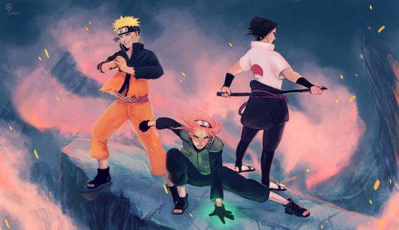 Citrusgun, NARUTO, Haruno Sakura, Uchiha Sasuke, Uzumaki Naruto, Team 7