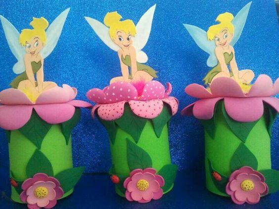 Tinkerbell centros de mesa birthday pinterest - Mesas para cumpleanos infantiles ...