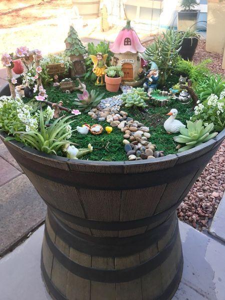 Fabulous Fairy Garden Ideas For Easy And Cheap Your Backyard Design In 2020 Fairy Garden Pots Fairy Garden Containers Fairy Garden Designs