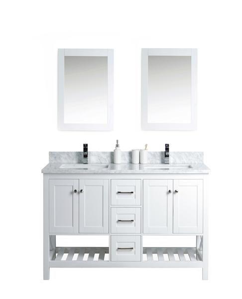 54 Taiya Bathroom Vanity In Toga White Double Sink Bathroom Vanity Small Double Sink Vanity Bathroom Vanity Renovation 54 inch bathroom vanity double sink