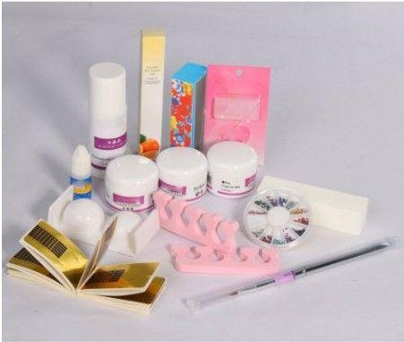 Kits acrílico pó líquido Primer decoração Pro DIY Nail Art Kit escova lixar do arquivo modelo 3D alishoppbrasil