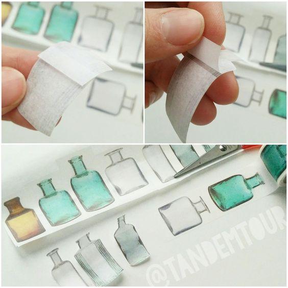 FAVtastic: [Tipp] Motive aus Washitape ausschneiden .... WachiTape Sticker selber machen