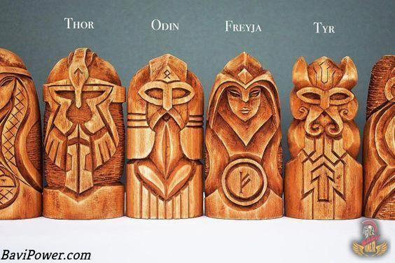Viking Art Six Awesome Viking Ancient Art Styles Viking Art Odin And Thor Wooden Statues