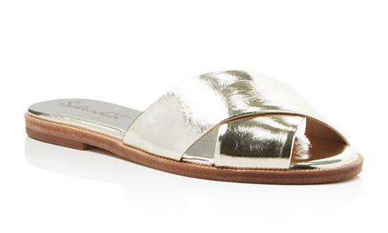 Splendid Baron Metallic Criss Cross Slide Sandals Gold $99 SHIPS FREE or PICK UP IN SANTA MONICA * BEST PRICE GUARANTEED * PURCHASE HERE: http://piermart.com/splendid-baron-metallic-criss-cross-slide-sandals-gold-99-ships-free/