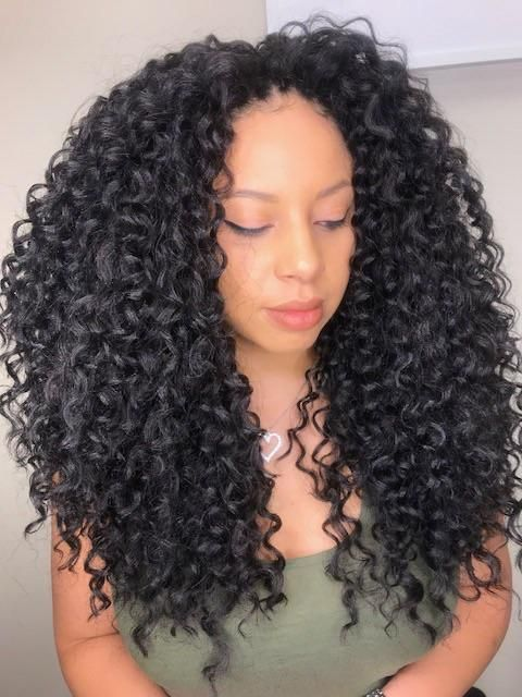 Spanish Curl In 2019 Curly Hair Styles Curly Crochet Hair
