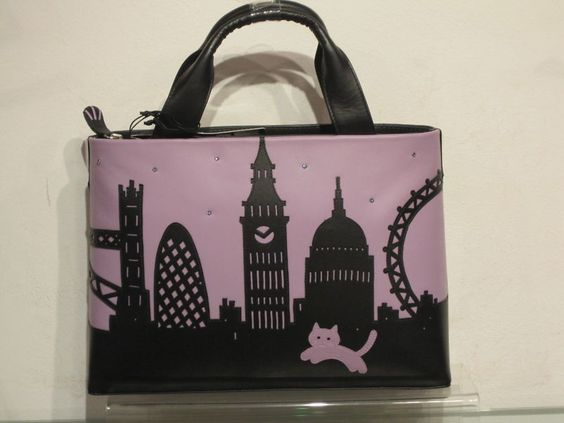 "New Season Ciccia ""London Skyline Silhouette"" Leather ..."