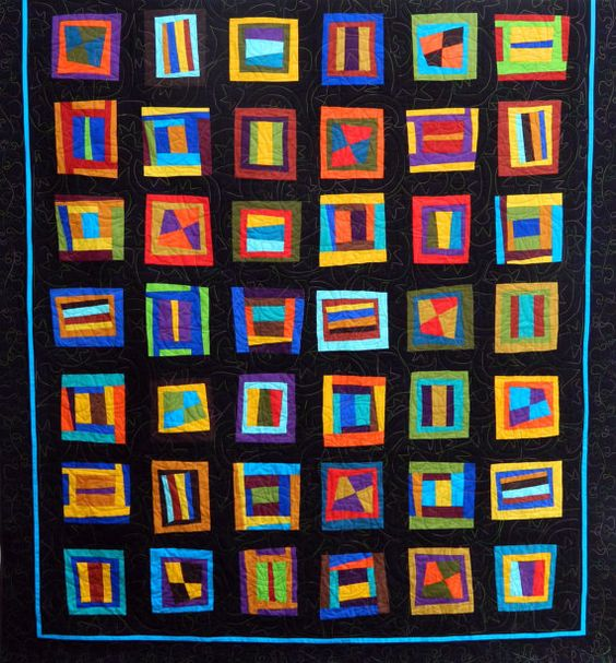 Graphics contemporary quilt by KrisKhanDesigns on Etsy, $750.00