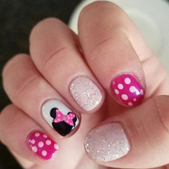 Are you looking for cute disney nail art designs 2018? Nail designs like cute Mickey Mouse, beautiful Cinderella, and icy Frozen will surely brighten up your day just by looking at your nails! #birthdaynails