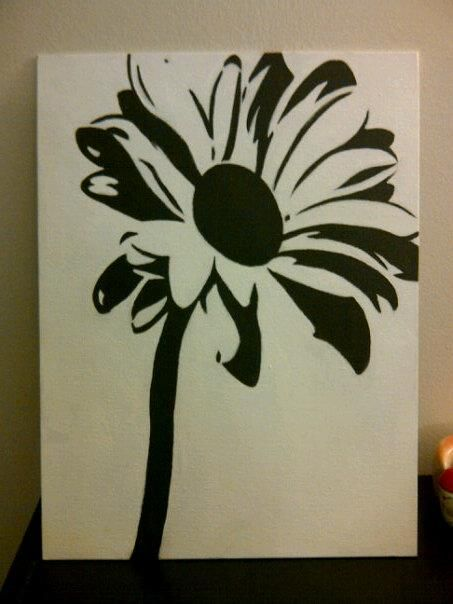 Daisy. Idea...copy a flower or design Onto canvas for art