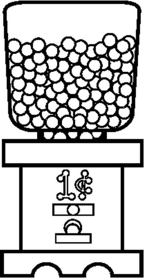 KleuterDigitaal Kp Snoep Kauwgomballenautomaat Voeding