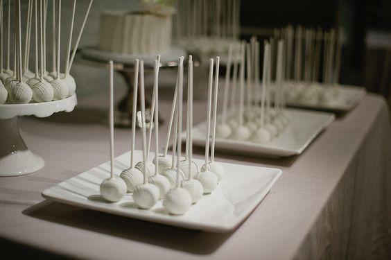 Simple but elegant wedding cake pops!