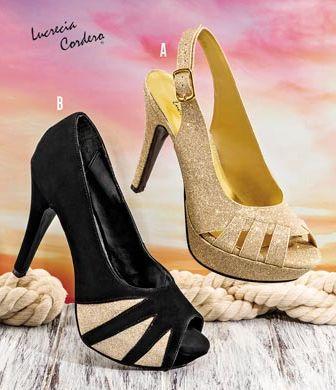 Zapatos de Lucrecia Cordero. Calzado de fiesta para damas. Coleccion Pakar 2016