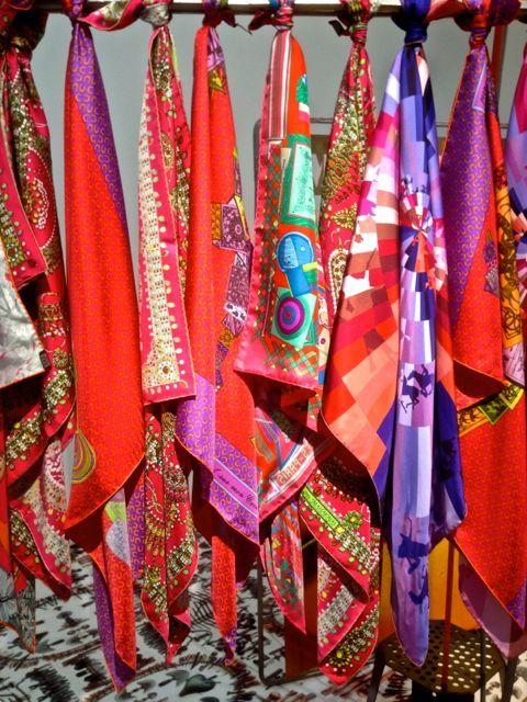 Loving these scarves!  Hermes Scarves